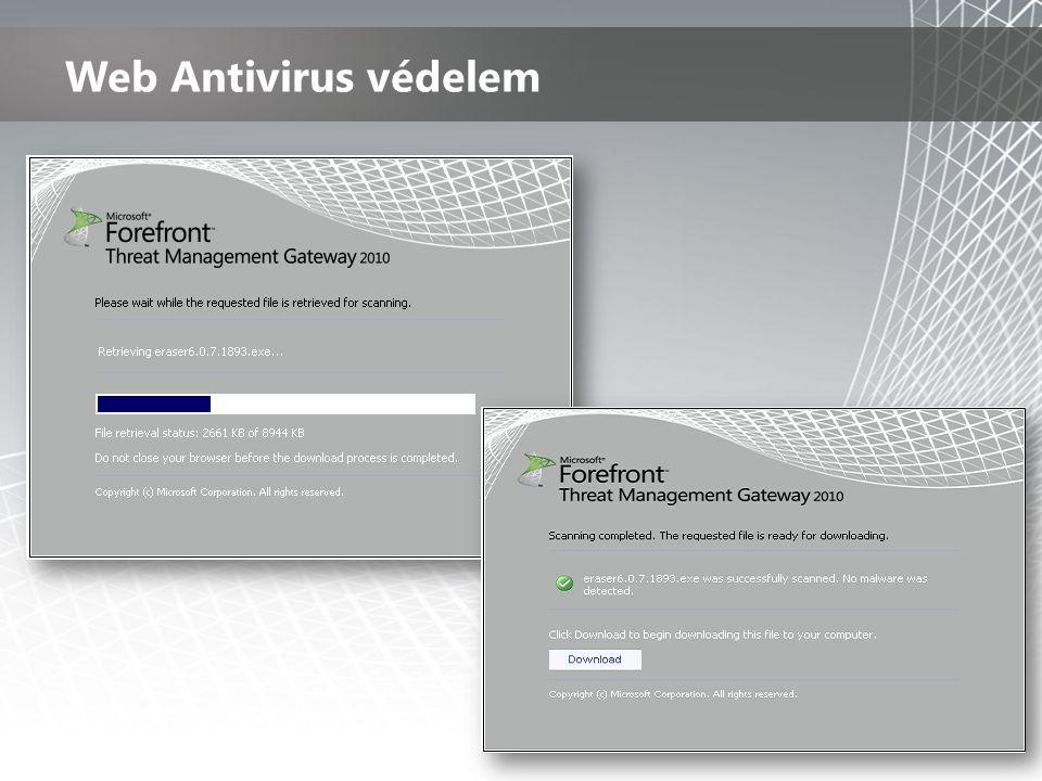 Web Antivirus védelem