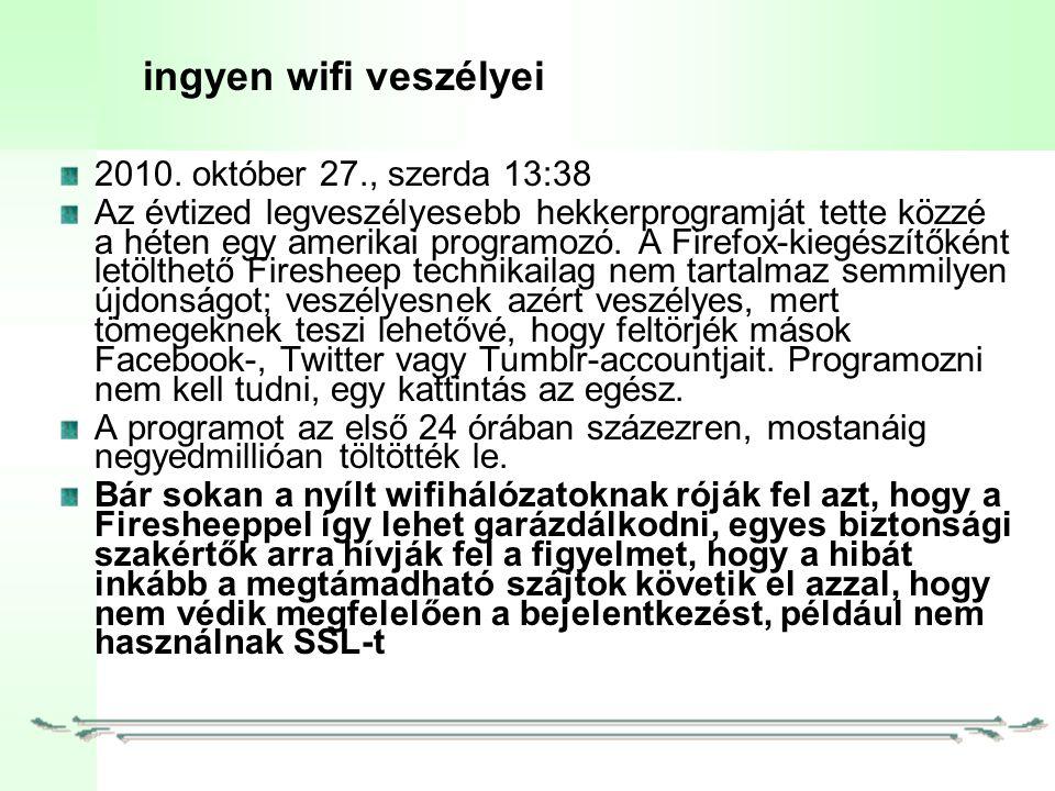 ingyen wifi veszélyei 2010.
