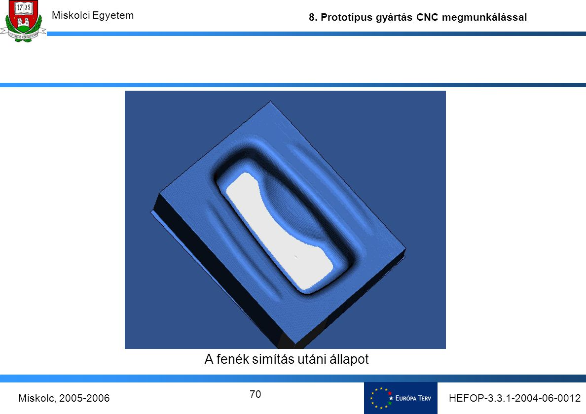HEFOP-3.3.1-2004-06-0012Miskolc, 2005-2006 Miskolci Egyetem 8.