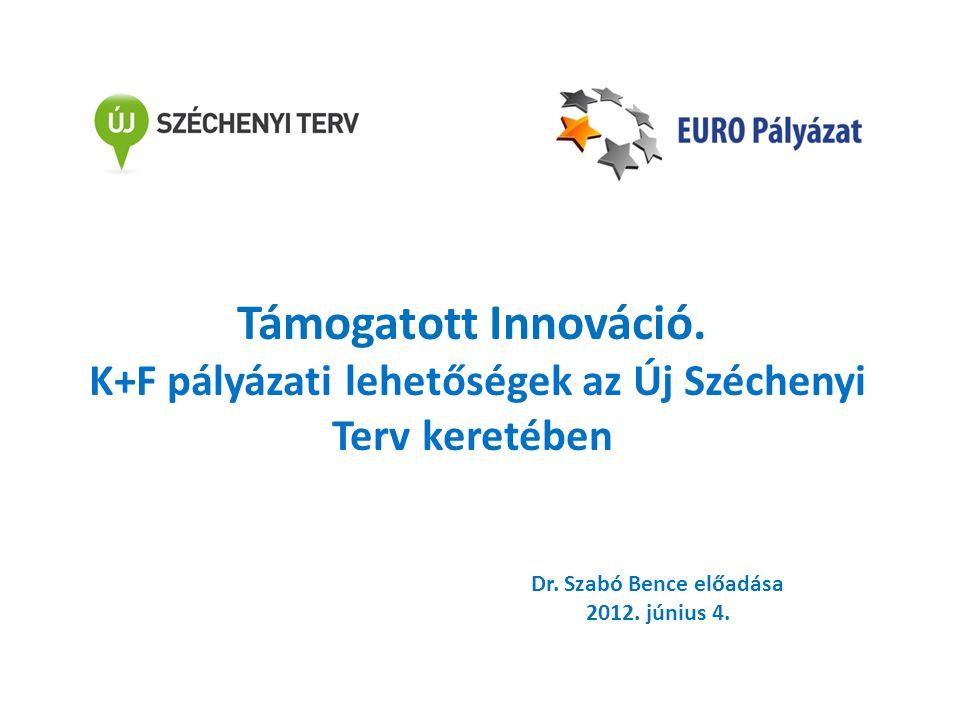 Támogatott Innováció. K+F pályázati lehetőségek az Új Széchenyi Terv keretében Dr. Szabó Bence előadása 2012. június 4.