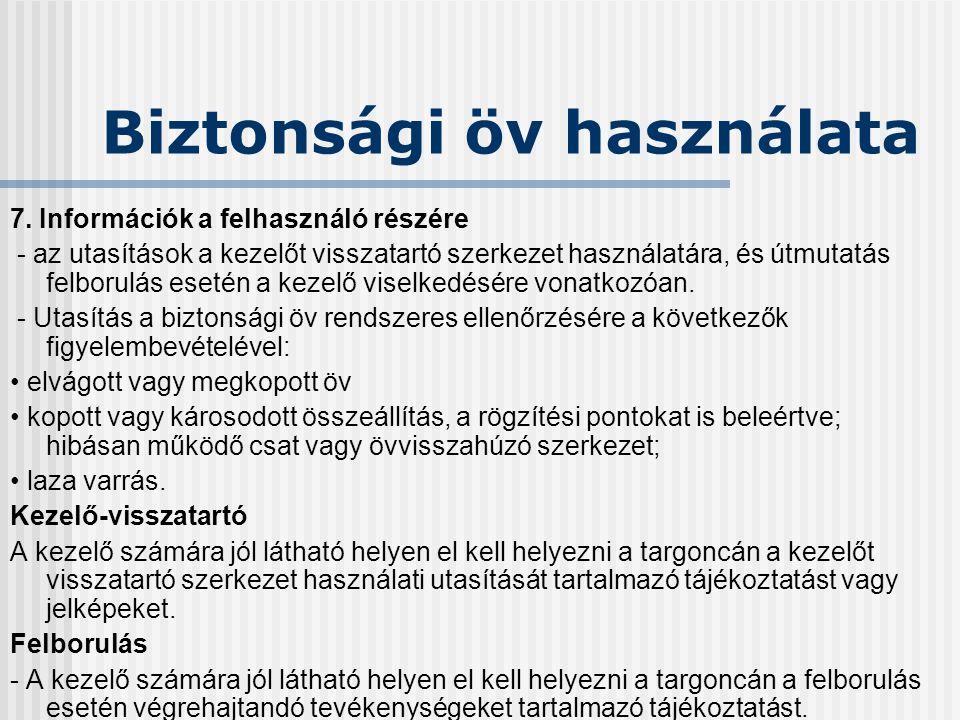 Új gépdirektíva AZ EURÓPAI PARLAMENT ÉS A TANÁCS 2006/42/EK IRÁNYELVE (2006.