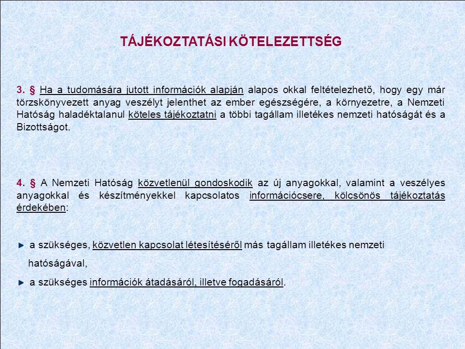 TÁJÉKOZTATÁSI KÖTELEZETTSÉG 3.