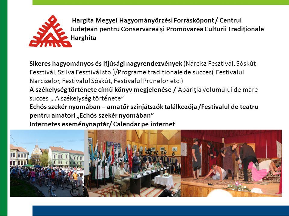 Hargita Megyei Hagyományőrzési Forrásköpont / Centrul Județean pentru Conservarea și Promovarea Culturii Tradiționale Harghita Sikeres hagyományos és