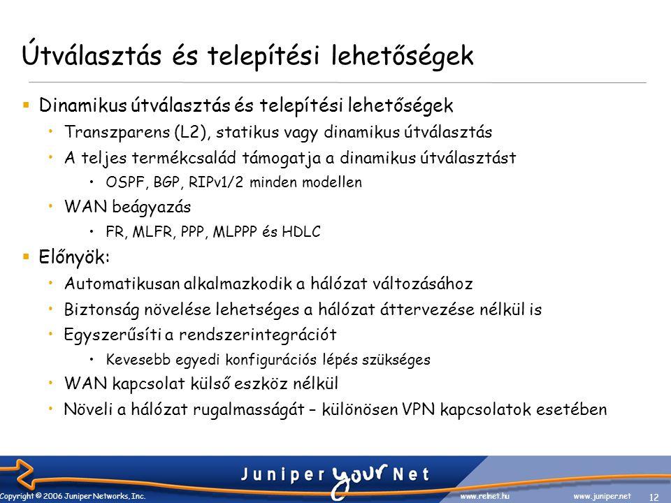 12 Copyright © 2006 Juniper Networks, Inc.