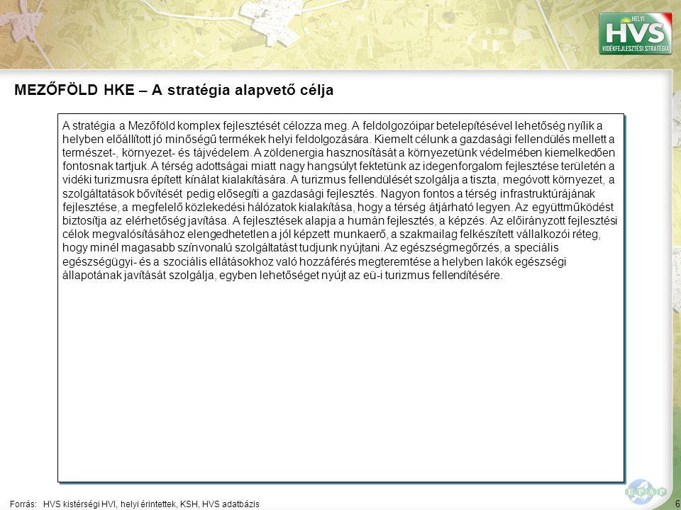 6 A stratégia a Mezőföld komplex fejlesztését célozza meg. A feldolgozóipar betelepítésével lehetőség nyílik a helyben előállított jó minőségű terméke