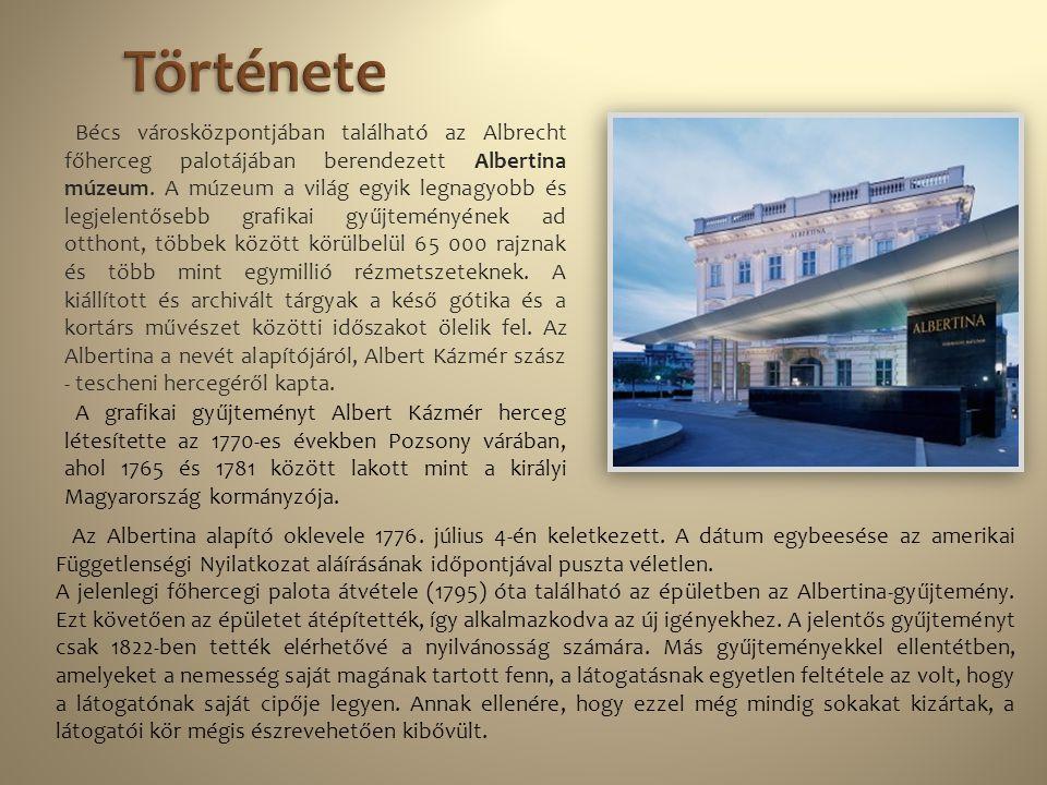 Bécs városközpontjában található az Albrecht főherceg palotájában berendezett Albertina múzeum. A múzeum a világ egyik legnagyobb és legjelentősebb gr