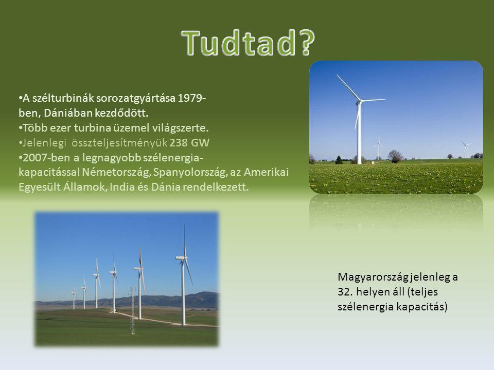 •A•A szélturbinák sorozatgyártása 1979- ben, Dániában kezdődött.