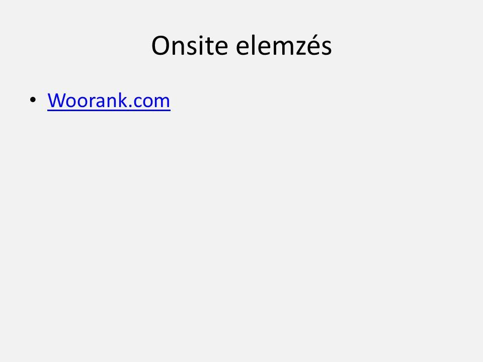 Onsite elemzés • Woorank.com Woorank.com