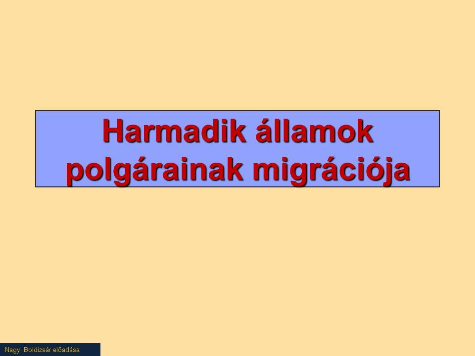 Nagy Boldizsár előadása Harmadik államok polgárainak migrációja