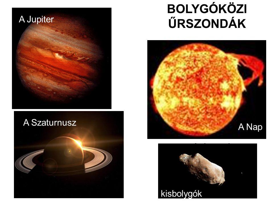 az égitesteket kutatják, fényképezik, tanulmányozzák BOLYGÓKÖZI ŰRSZONDÁK A Nap A Jupiter A Szaturnusz kisbolygók