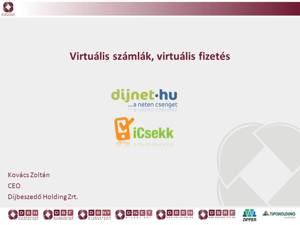 Virtuális számlák, virtuális fizetés Kovács Zoltán CEO Díjbeszedő Holding Zrt.