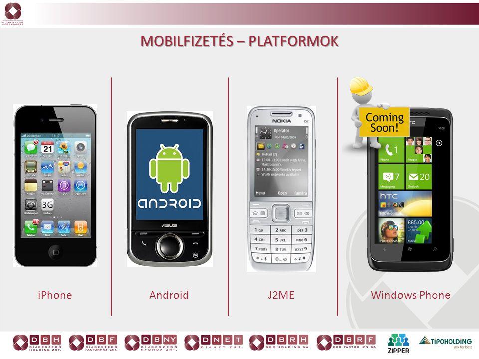 iPhoneAndroidJ2ME Windows Phone MOBILFIZETÉS – PLATFORMOK