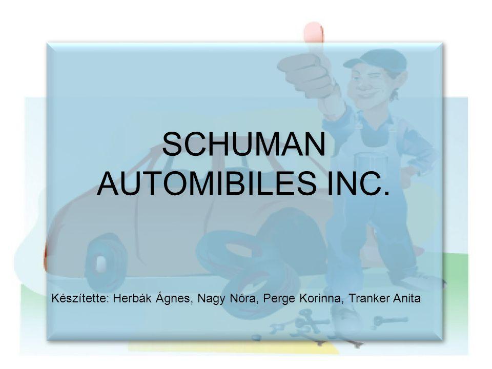 • Shuman Automobiles vállalat vezetője visszavonul • Szervezeti változások Új gépkocsi értékesítés divízió Használtautó-értékesítés divízió Javítórészleg • Mindhárom divízió nyereségközpont • A divízió vezetők bére divíziójuk bruttó nyereségével arányos • Shuman Automobiles vállalat vezetője visszavonul • Szervezeti változások Új gépkocsi értékesítés divízió Használtautó-értékesítés divízió Javítórészleg • Mindhárom divízió nyereségközpont • A divízió vezetők bére divíziójuk bruttó nyereségével arányos