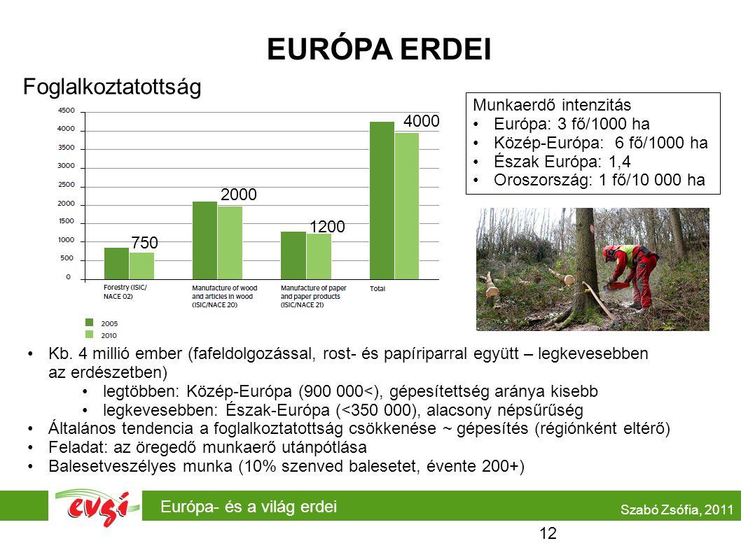 Európa- és a világ erdei EURÓPA ERDEI Szabó Zsófia, 2011 •Kb.