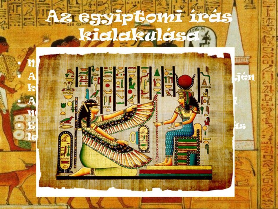 Az egyiptomi írás fajtái A tévhittel ellentétben az ókori Egyiptomban nem csak egy, hanem háromféle írás volt.