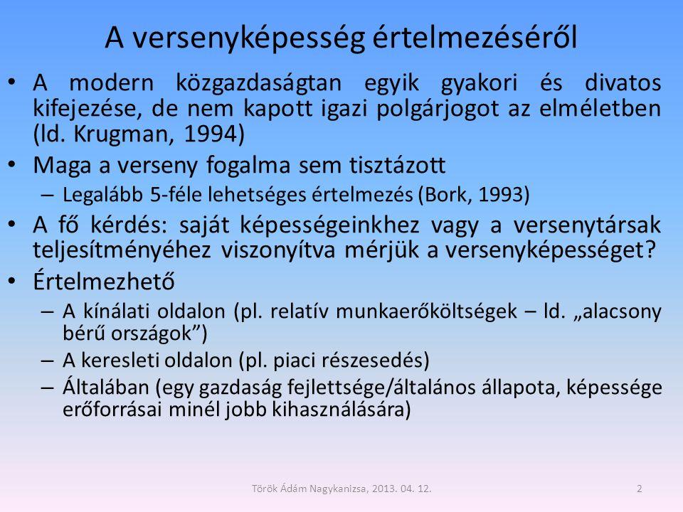 Török Ádám Nagykanizsa, 2013.04. 12.23 Milyen irányú az összefüggés.