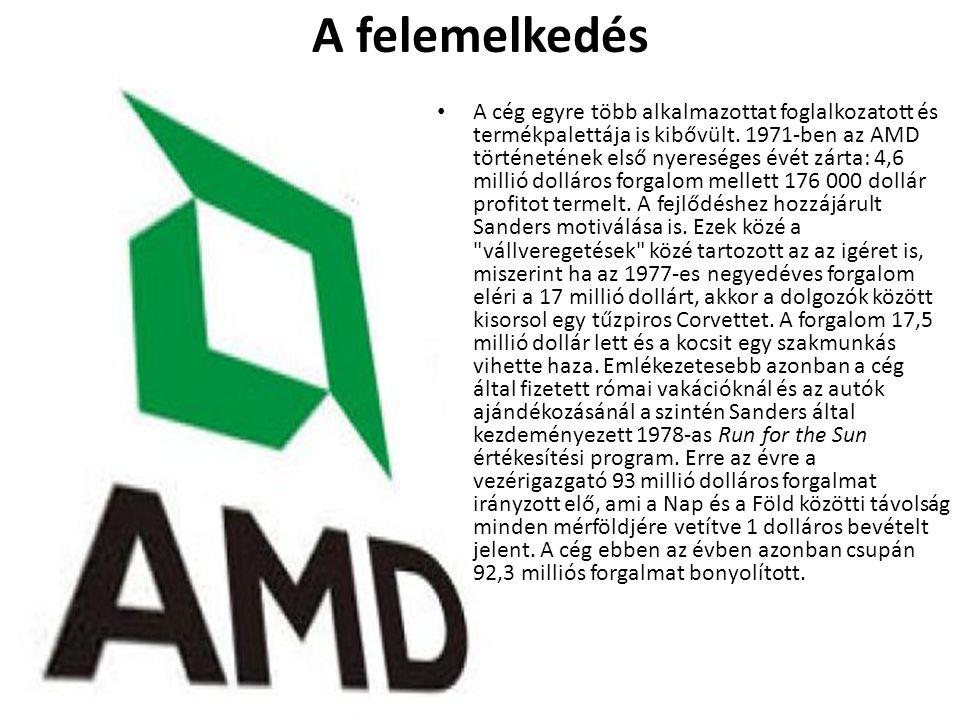 A felemelkedés • A cég egyre több alkalmazottat foglalkozatott és termékpalettája is kibővült. 1971-ben az AMD történetének első nyereséges évét zárta