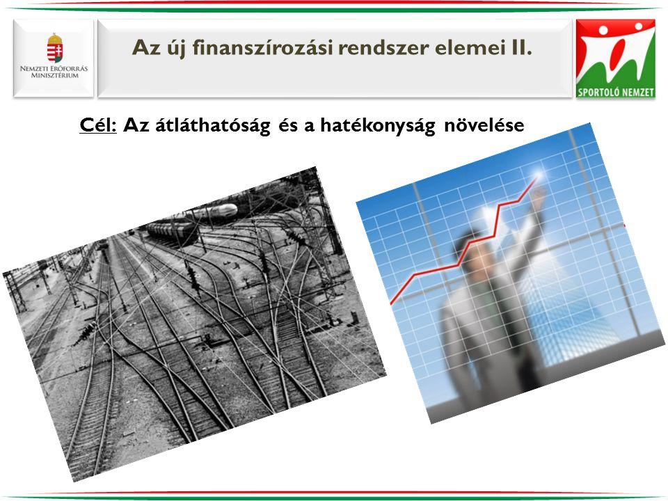 Az új finanszírozási rendszer elemei II. Cél: Az átláthatóság és a hatékonyság növelése