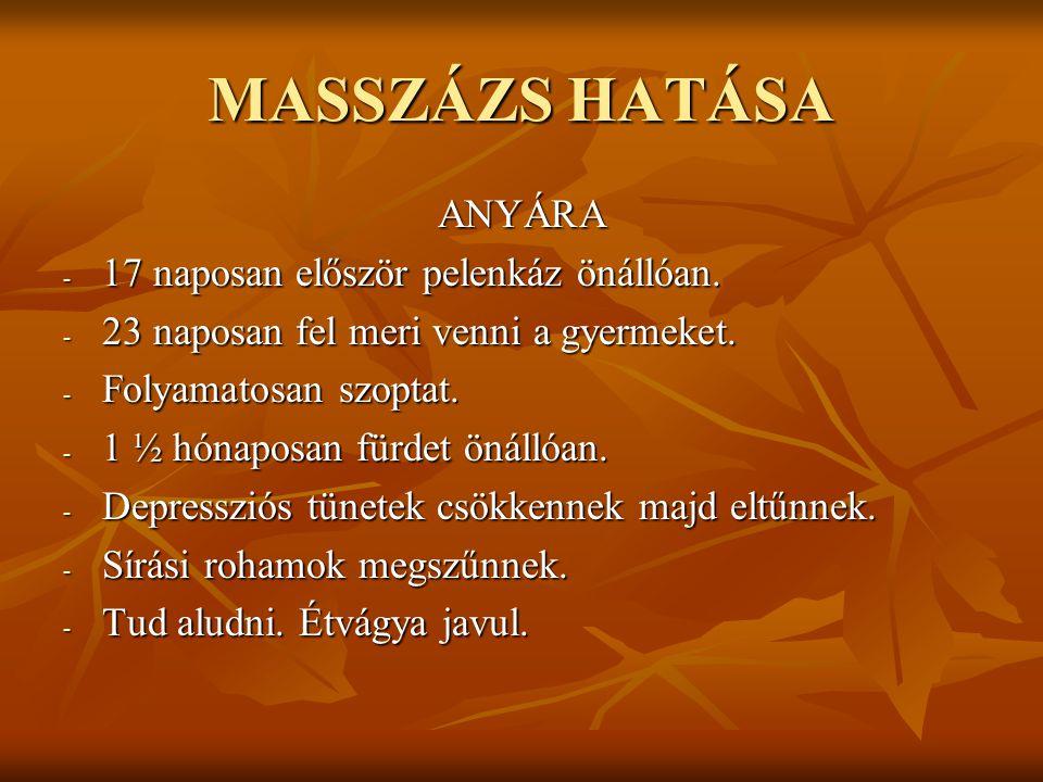 MASSZÁZS HATÁSA ANYÁRA - 17 naposan először pelenkáz önállóan.