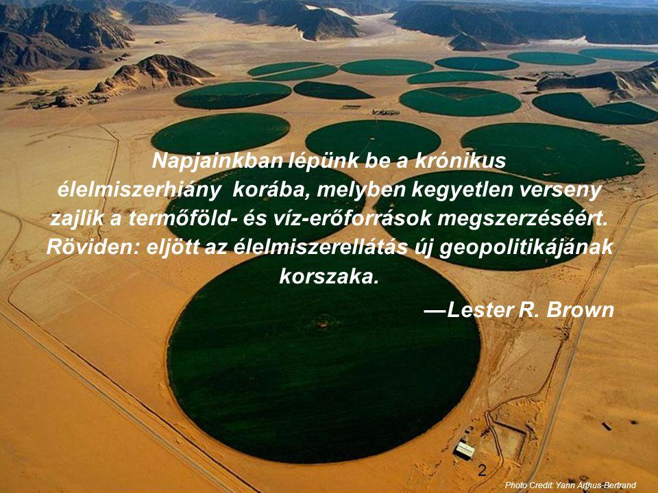 13 Népességszám emelkedése által kiváltott feszültség •Bolygónkon 7 milliárd ember él.