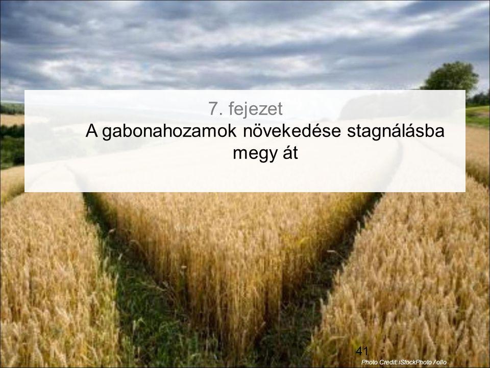 41 7. fejezet A gabonahozamok növekedése stagnálásba megy át Photo Credit: iStockPhoto / ollo