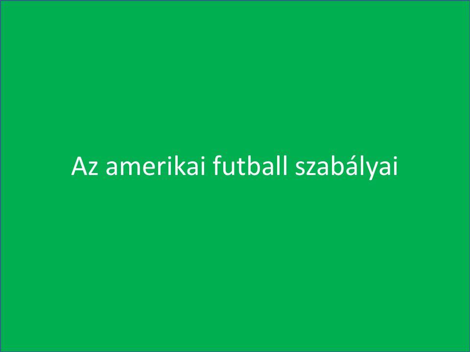 A főbb szabálytalanságok: Bármilyen szabálytalanság történik, az amerikai futballban nincs kiállítás.