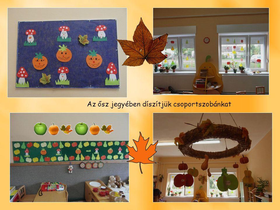 Az ősz jegyében díszítjük csoportszobánkat