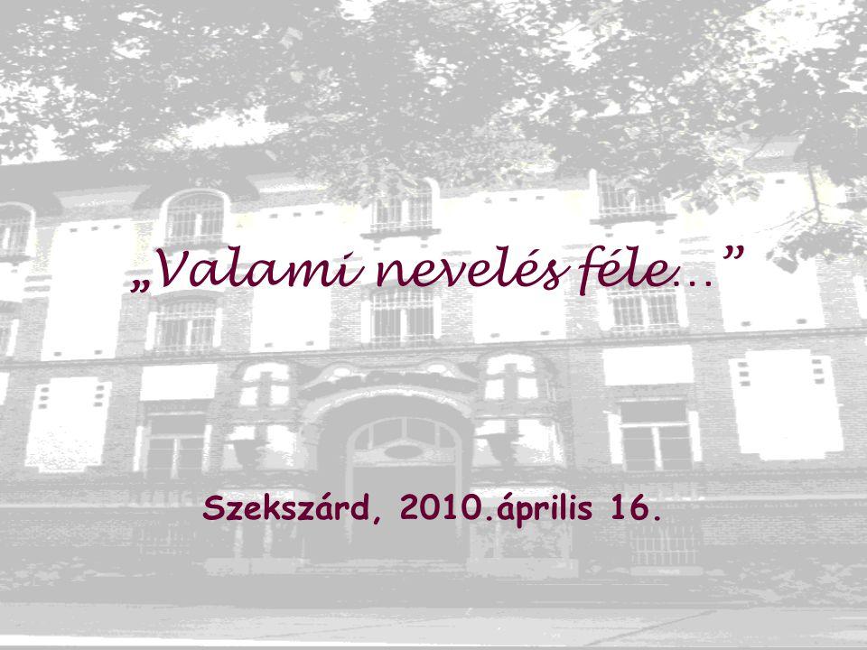 """"""" Valami nevelés féle… Szekszárd, 2010.április 16."""