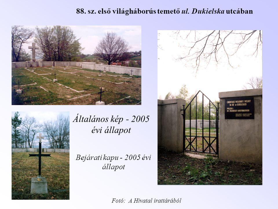 Általános kép - 2005 évi állapot Bejárati kapu - 2005 évi állapot Fotó: A Hivatal irattárából