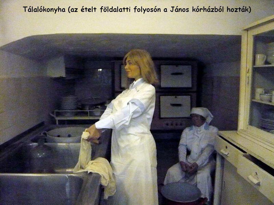 Tálalókonyha (az ételt földalatti folyosón a János kórházból hozták)