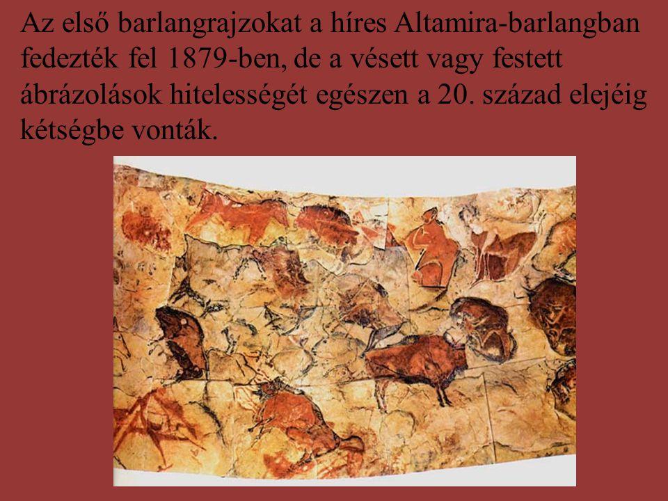 Az első barlangrajzokat a híres Altamira-barlangban fedezték fel 1879-ben, de a vésett vagy festett ábrázolások hitelességét egészen a 20. század elej