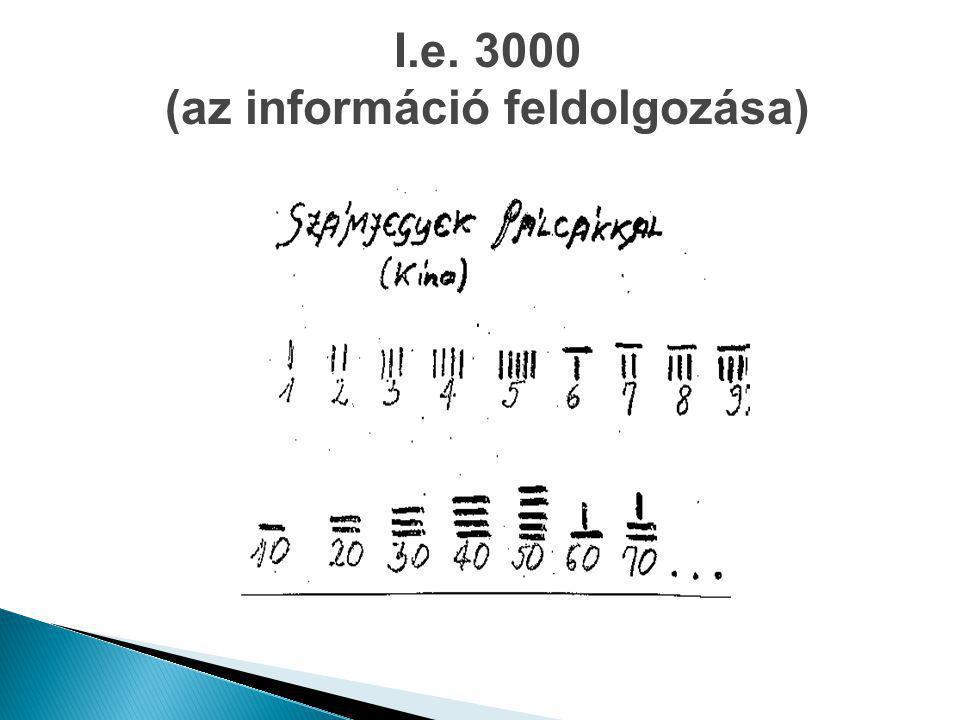 I.e. 3000 (az információ feldolgozása)