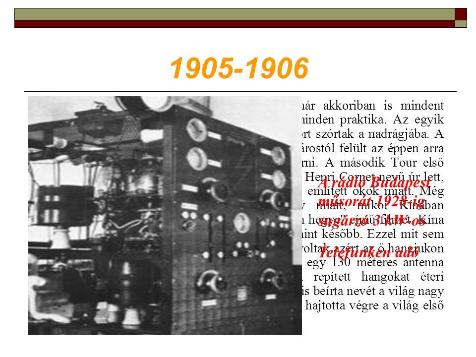 1905-1906 Mert a korabeli hírek szerint a győzelemért már akkoriban is mindent megtettek az élelmes versenyzők.