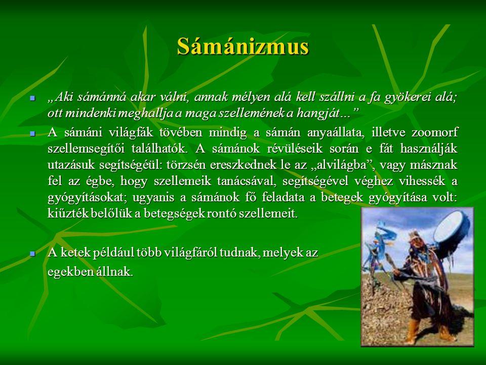 """Sámánizmus  """"Aki sámánná akar válni, annak mélyen alá kell szállni a fa gyökerei alá; ott mindenki meghallja a maga szellemének a hangját…""""  A sámán"""