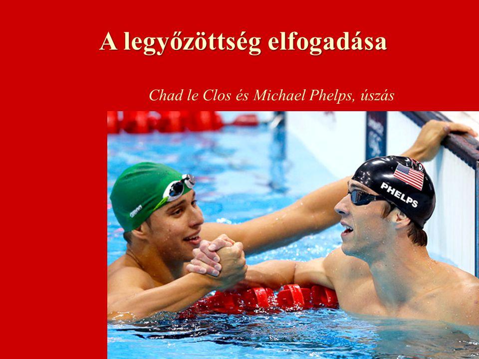 A legyőzöttség elfogadása Chad le Clos és Michael Phelps, úszás