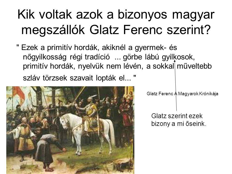 Kik voltak azok a bizonyos magyar megszállók Glatz Ferenc szerint?