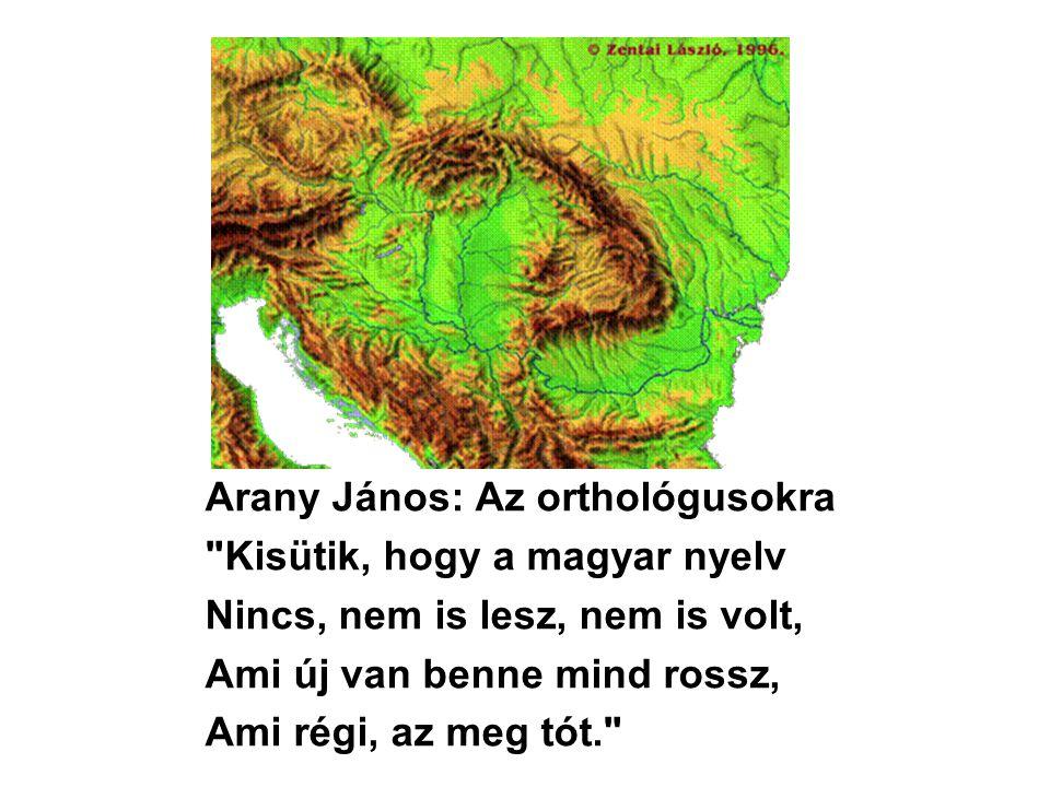 Arany János: Az orthológusokra