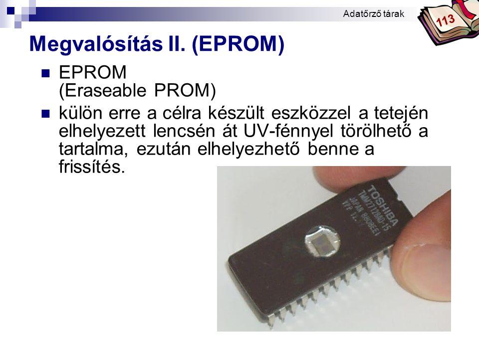 Bóta Laca  EEPROM (Electrically EPROM - elektronikus EPROM)  Az EPROM-hoz közeli félvezető memória, amelynek tartalma elektronikus úton könnyen változtatható.