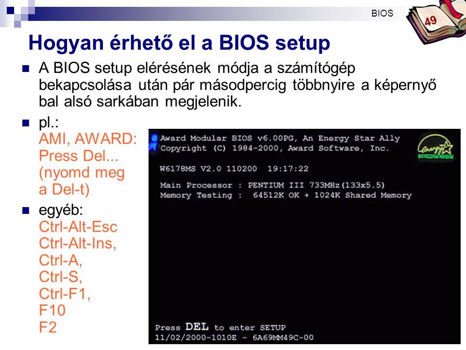 Bóta Laca AMI BIOS indításkor  American Megatrends BIOS 49