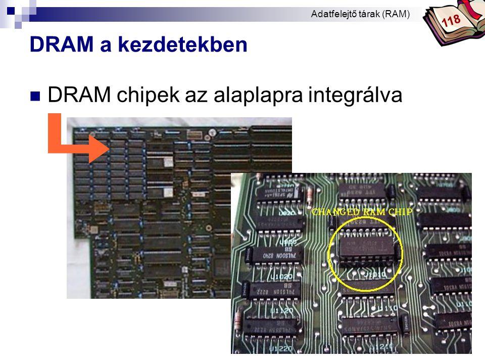 Bóta Laca DRAM illesztőhelyek – SIMM 30  a legelső memóriamodulok (9 bites elemek)  386 - 486-os PC-nél jelentősek  kapacitásuk jellemzően 256KB-16MB.