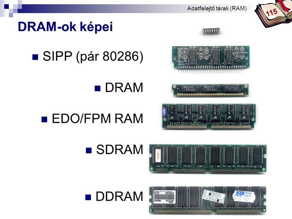Bóta Laca DRAM-ok képei  SDRAM  DDRAM  RDRAM RAMBUS Adatfelejtő tárak (RAM) 115