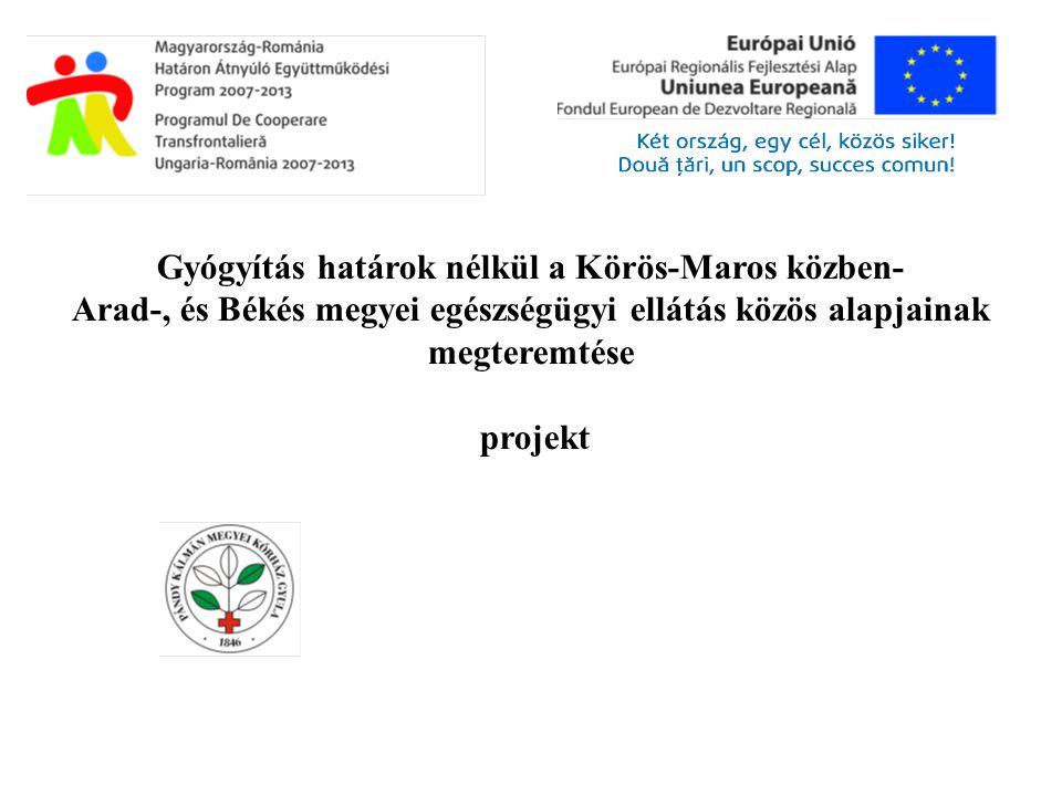 Gyógyítás határok nélkül a Körös-Maros közben- Arad-, és Békés megyei egészségügyi ellátás közös alapjainak megteremtése projekt