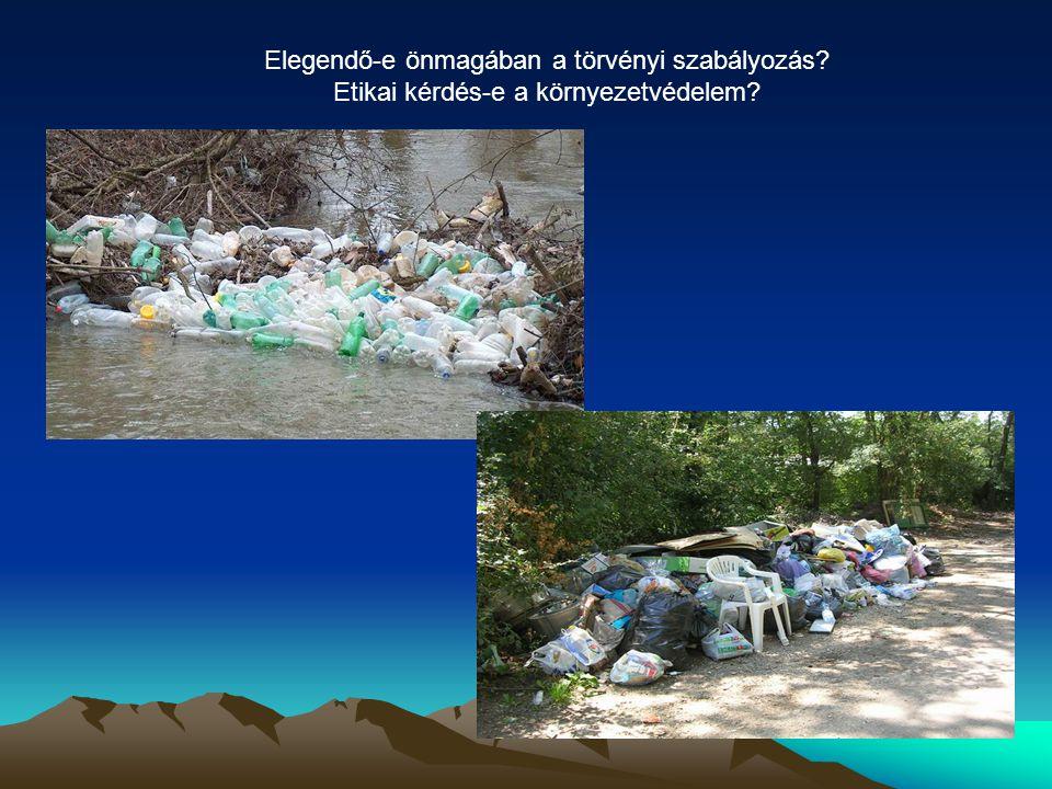 Elegendő-e önmagában a törvényi szabályozás? Etikai kérdés-e a környezetvédelem?