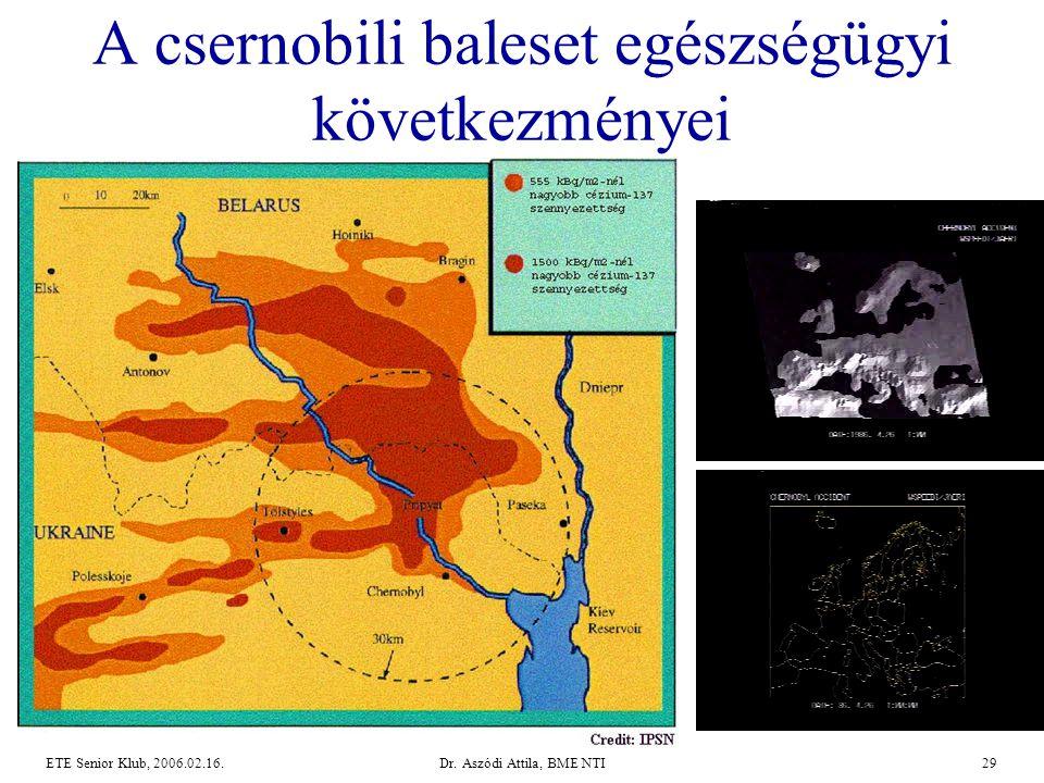 Dr. Aszódi Attila, BME NTI29ETE Senior Klub, 2006.02.16. A csernobili baleset egészségügyi következményei