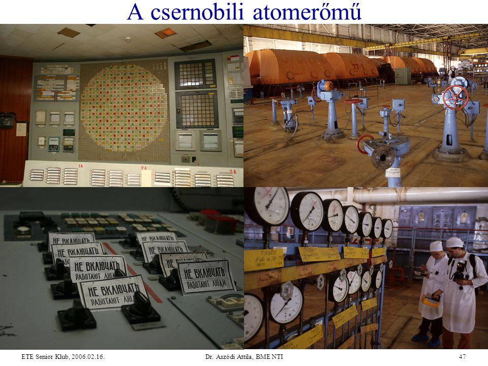 Dr. Aszódi Attila, BME NTI47ETE Senior Klub, 2006.02.16. A csernobili atomerőmű