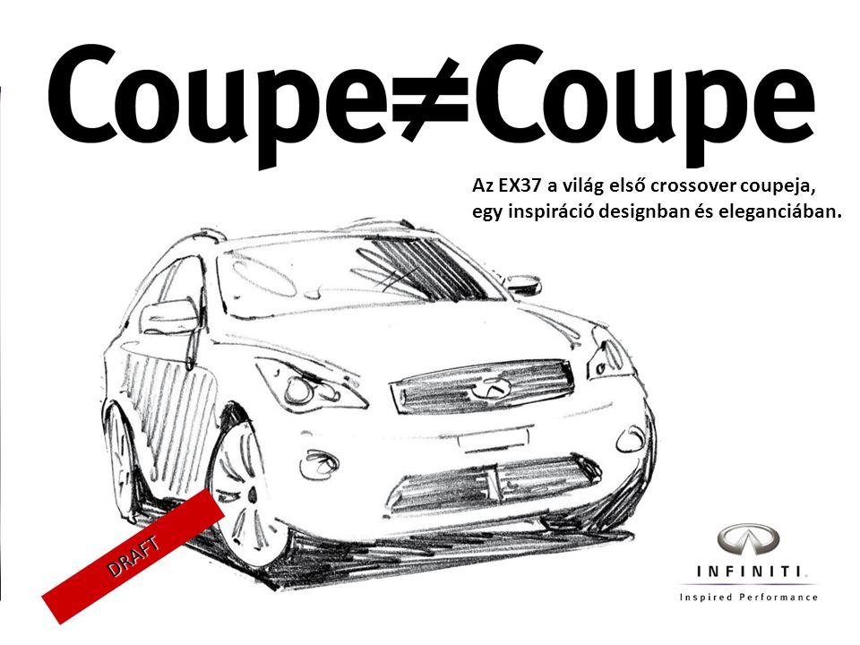 DRAFT Az EX37 a világ első crossover coupeja, egy inspiráció designban és eleganciában.