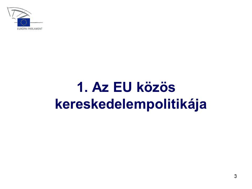 3 1. Az EU közös kereskedelempolitikája