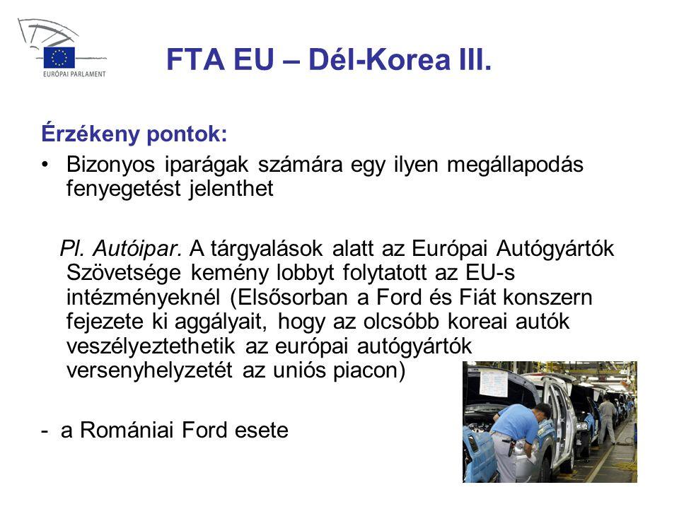 36 FTA EU – Dél-Korea III.