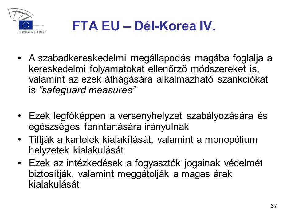 37 FTA EU – Dél-Korea IV.