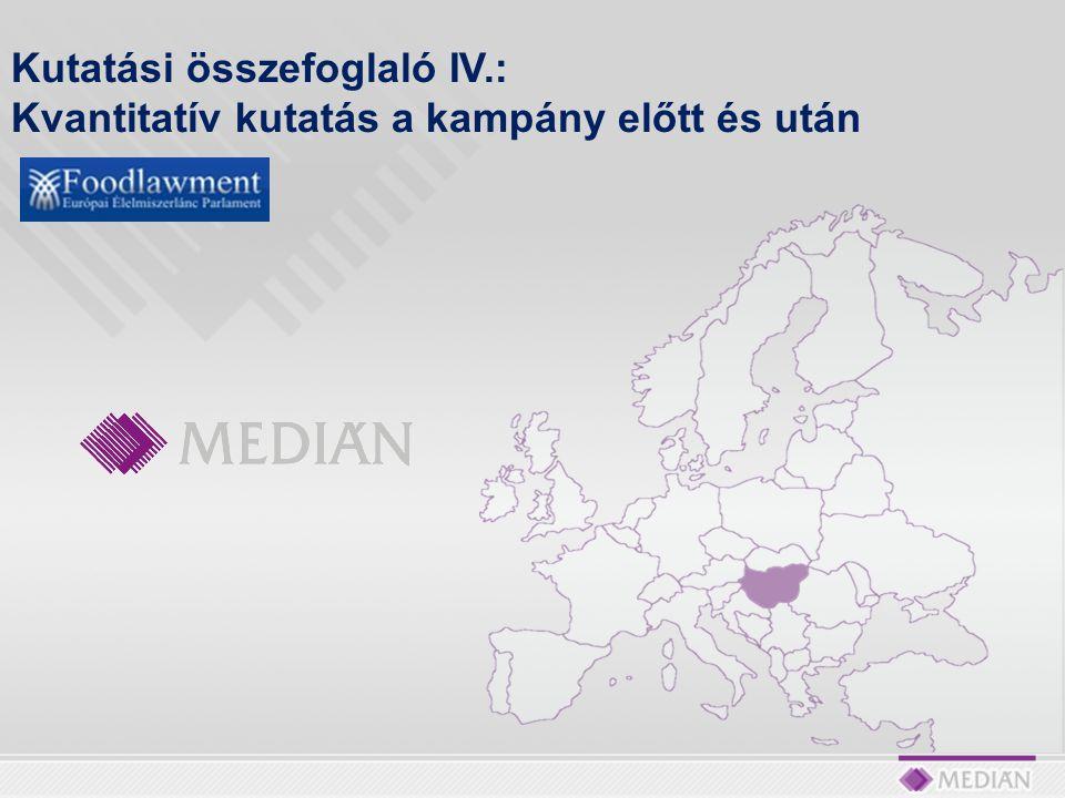 Az Európai Élelmiszerlánc Parlament – FOODLAWMENT EGYESÜLET a KEOP 6.1.0/C/09-2009-0005 szám alatt futó projektjéhez tartozó közvélemény-kutatási feladatok lebonyolításával bízta meg a Medián Közvélemény- és Piackutató Intézetet.